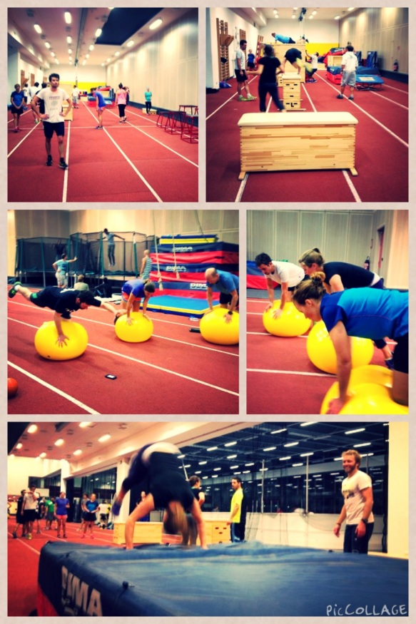 Fitness session at the Tignespace