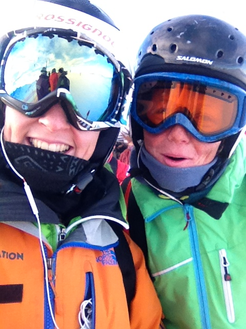 Vantreen and I wrapped up warm in what was rumoured to be -25 degree temperatures (with wind chill!) on our way up to training this week